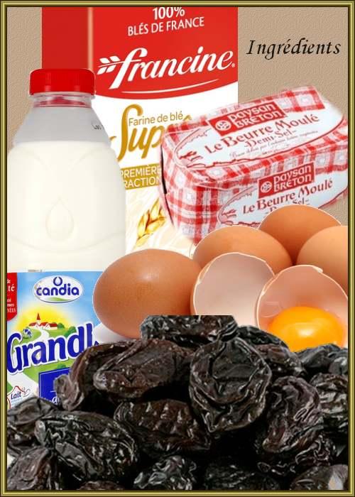 Recette de cuisine : Far au beurre salé et aux pruneaux
