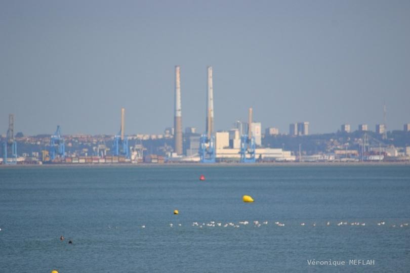 Calvados : été 2018 : Plage de Trouville-sur-Mer et quelques vues sur le Havre
