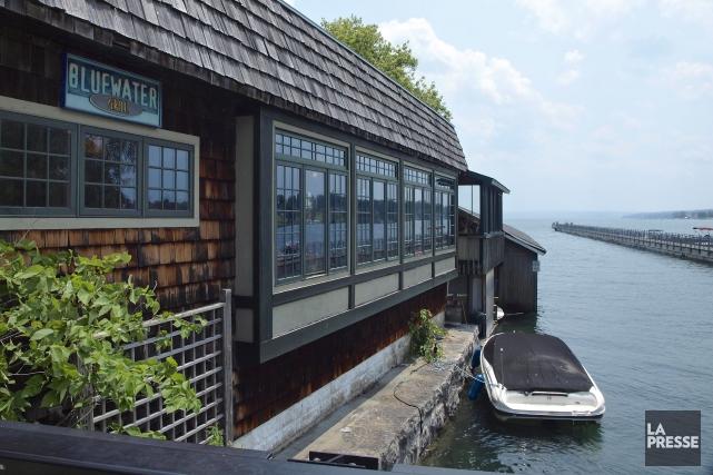 Le Blue Water Grill, dont la jolie terrasse... (Photo Fabienne Couturier, La Presse)