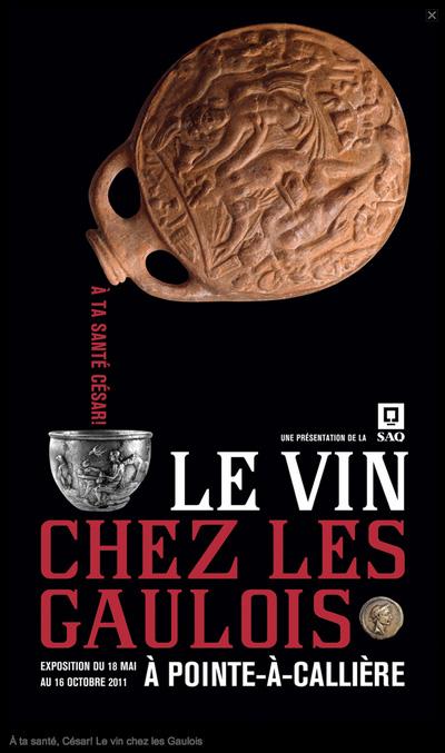 """""""Le vin chez les Gaulois""""une exposition au Québec où fut évoqué le Musée du Châtillonnais-Trésor de Vix !"""