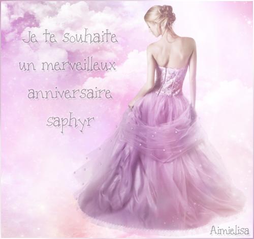 Joyeux anniversaire Saphyr