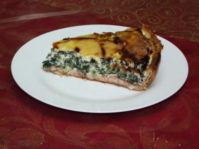Blog de charlottopoire : Mes petites créas, Tarte aux épinards et saumon fumé