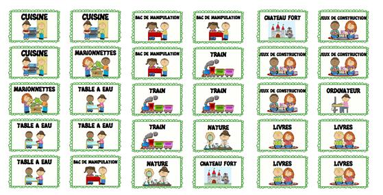 Affichage Espace Et Coins Jeux Enclasse Maternelle La