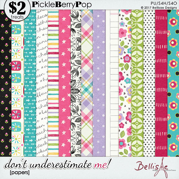 DON'T UNDERESTIMATE ME | papers by Bellisae Designs