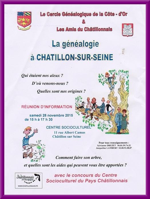 Les Amis du Châtillonnais proposent des séances d'études généalogiques...