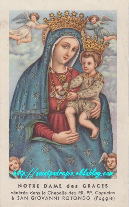 Oração a Santa Maria delle Grazie