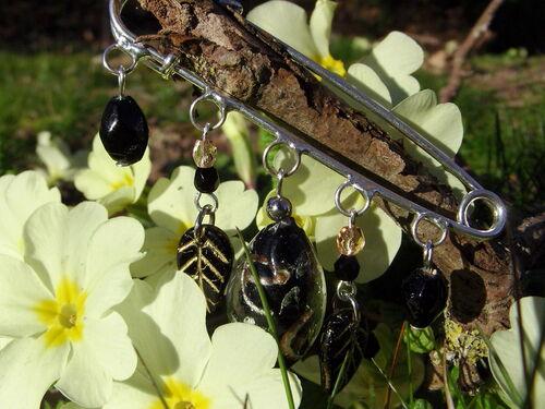 Broche en perles de verre de Murano
