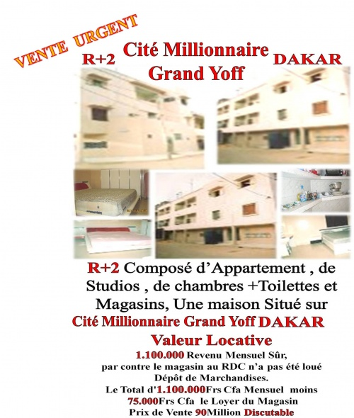 Kaw Immobilier & Services Infos +221 77 269 01 51* 77 273 75 74
