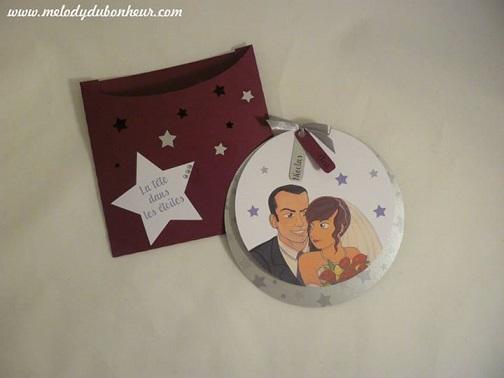 Faire part mariage étoiles