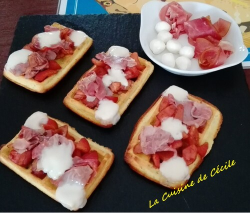Gaufres à l'italienne - recette autour d'un ingrédient #42