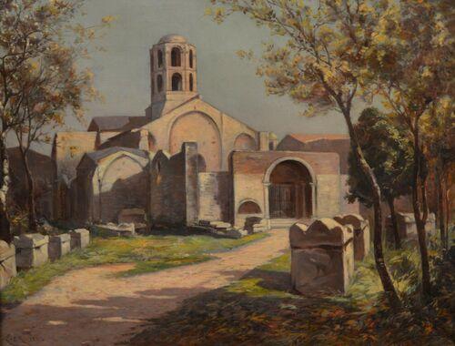 La chapelle St Honorat des Alyscamps - Arles par Jules Izier