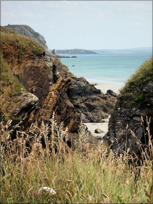aber, photo, depuis, ile, crozon, presqu ile, finistere, bretagne, france, plage, rochers
