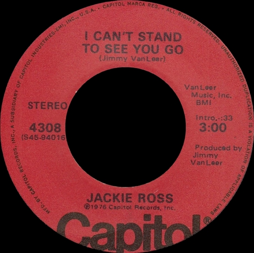 "Jackie Ross "" Keep Your Chin Up The Singles Years 1965-1976 "" SB Records DP 127 [ FR ]"