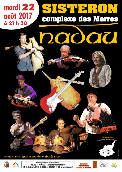 Rendez-vous à Sisteron le 22 août 2017 avec Nadau