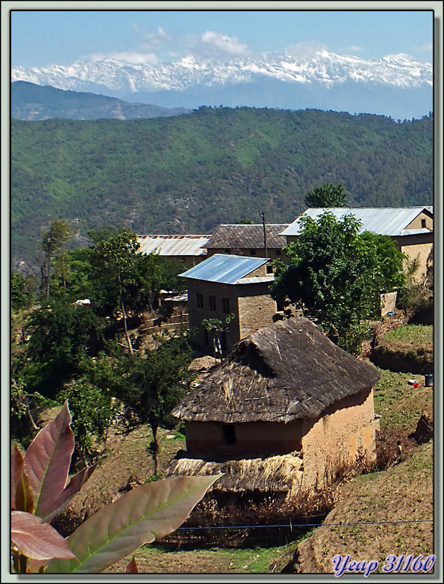 Blog de images-du-pays-des-ours : Images du Pays des Ours (et d'ailleurs ...), Traversée des collines entre Nagarkot et Katmandou: maison traditionnelle népalaise - Népal