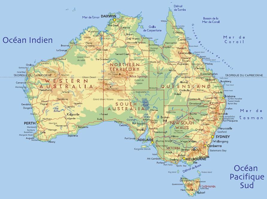 Carte Australie Anglais.Fiche Pays L Australie Tour Du Monde Perrine Et Yann