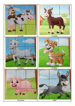 Puzzle cube : les animaux de la ferme