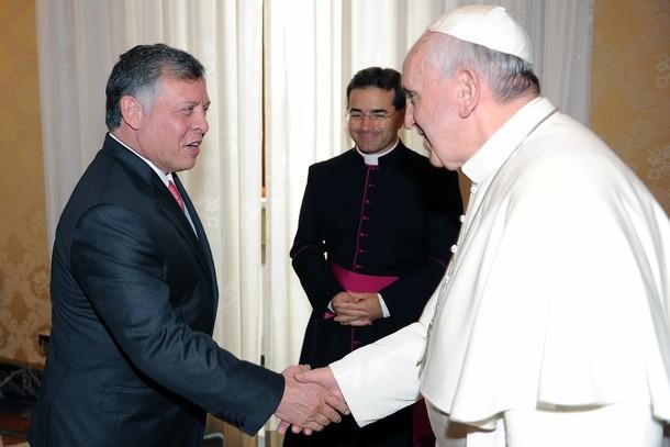 Le roi et la reine au Vatican