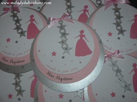 Faire part princesse et étoiles