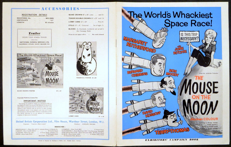 A MOUSE ON THE MOON BOX OFFICE USA 1963