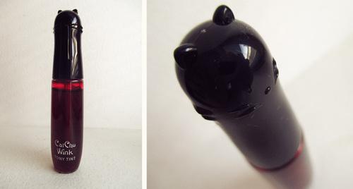 Cat Chu Wink - Cherry pink n°01 - Tony Moly : l'encre à lèvre glamour