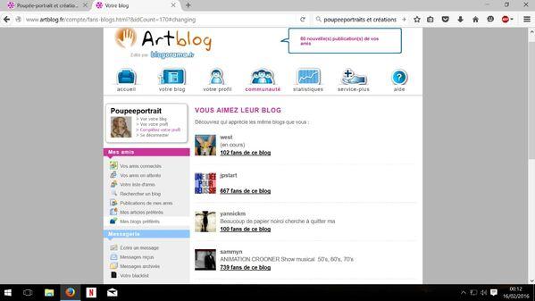 """Capture liste interne """" Vous aimez leur blog"""" avec photos, avatar... page-18"""
