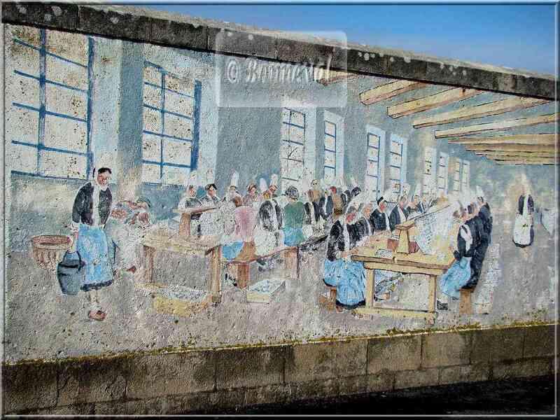 * Finistère * fresque murale histoire de Penmarc'h
