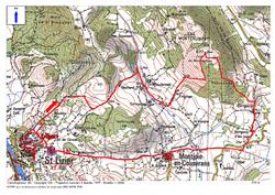 Le Tuc de Montcalivert (677 m) depuis Saint-Lizier (419 m) - Ariège