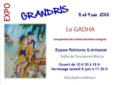 Exposition Printemps / Eté du GADHA à Grandris (69)