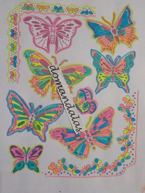 DOMANDALAS coloriage papillons