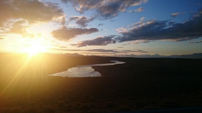 coucher de soleil sur la ruta 40