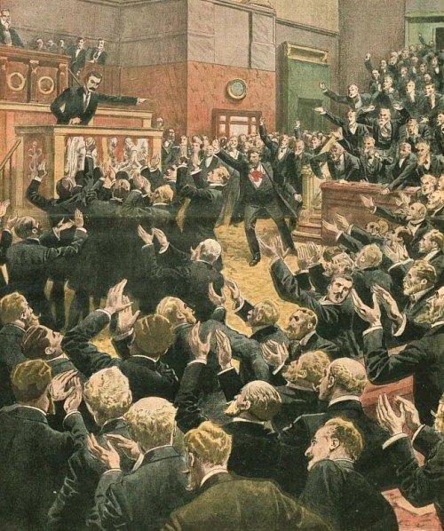 Séance orageuse à la Chambre des députés