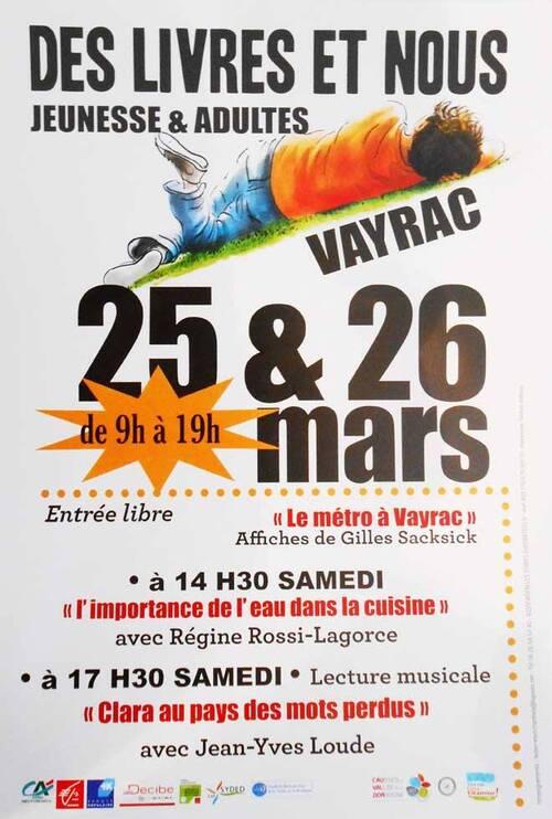 DES LIVRES ET NOUS...2 ème édition du Salon du livre de Vayrac (46)
