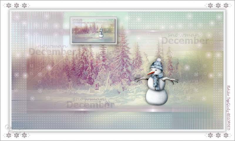 *** December 2017 and Snowman - Ildiko TopGirlz-RELOADED ***