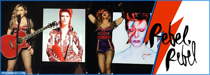 Madonna Tribute to David Bowie Rebel Rebel