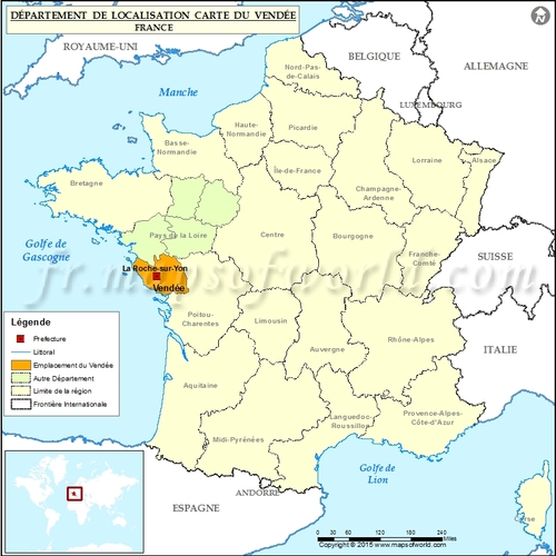 Carte France/Vendée