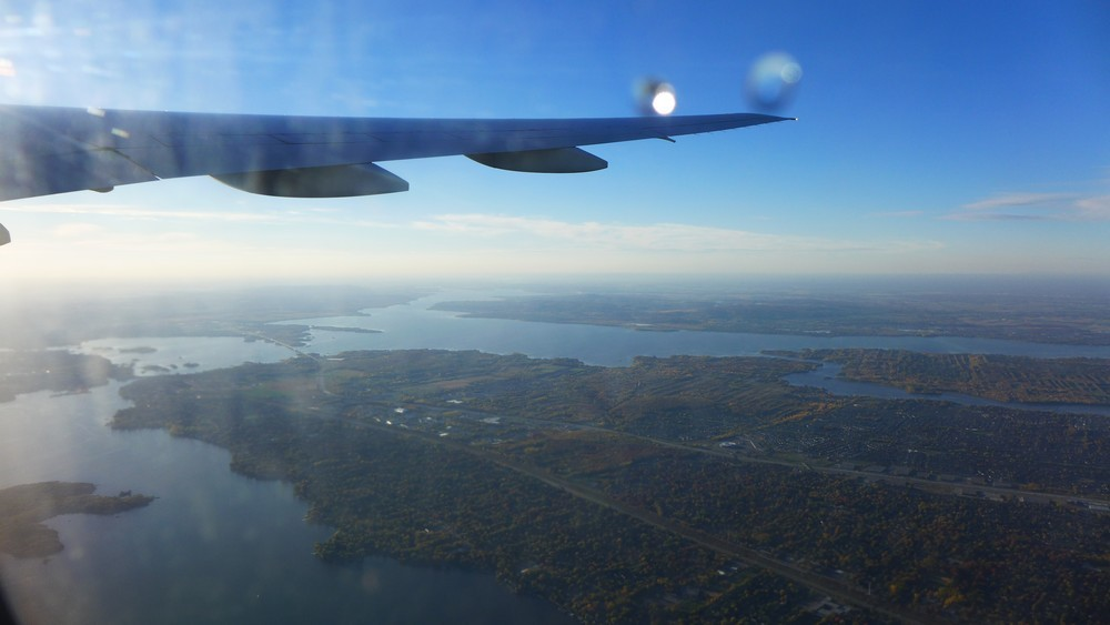 Montréal, vue d'avion...