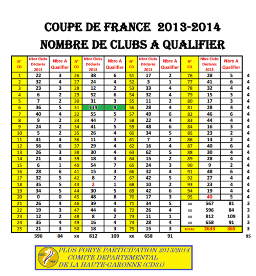 COUPE DE FRANCE DES CLUBS 2013/2014.