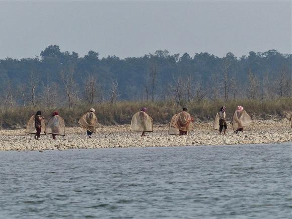 rencontre avec des pêcheurs;