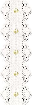 Fonds transparents bordures dentelles et perles