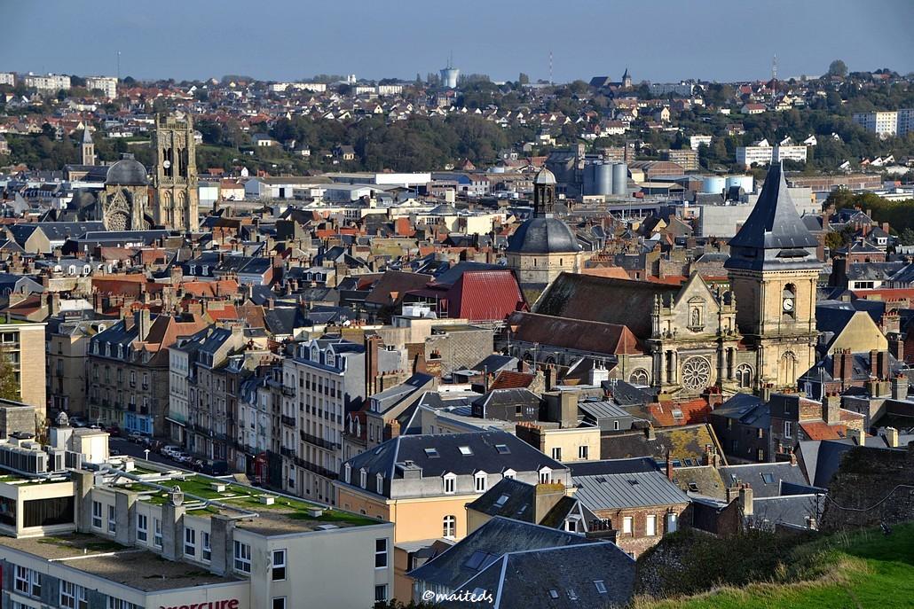 Dieppe vue depuis le château - Seine-Maritime (3)