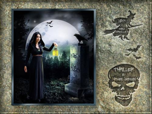 Carte Musicale pour Halloween Sombre