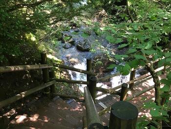Les escaliers vers le village