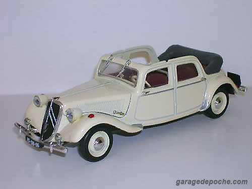 Citroën Traction 15 six découvrable E-D-M 1949