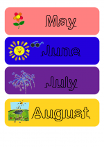 The months (étiquettes)
