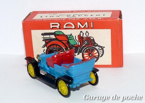 Peugeot double phaéton lion 1908 RAMI JMK