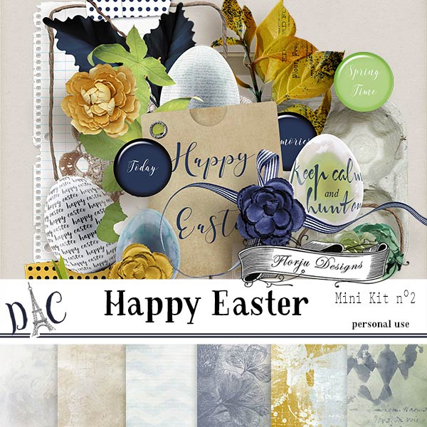 Happy Easter { Mini Kit 2 PU } by Florju Designs