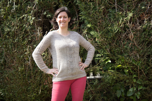 Mylène : Pull Sweeat Pea - Knit test