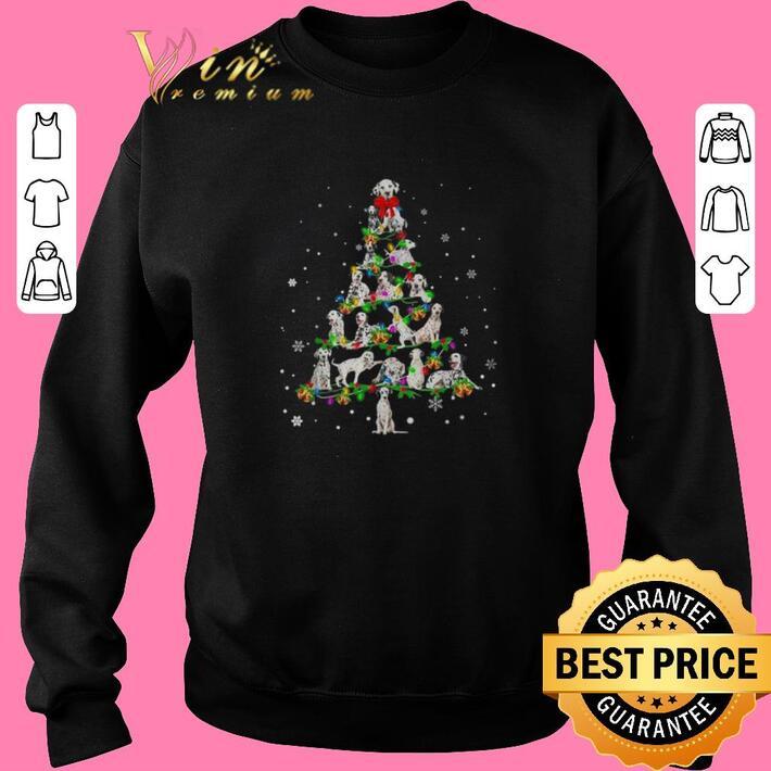 Funny Dalmatian Christmas tree light shirt