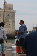 Depardieu en plein tournage dans la ville